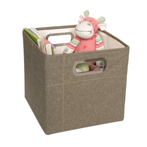 JJ Cole Storage Box - Greige Heather / 11 In. (Tall) - Storage & Organization