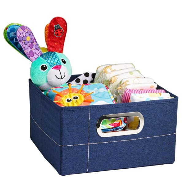 JJ Cole Storage Box - Navy Heather / 6.5 In. (Short) - Storage & Organization