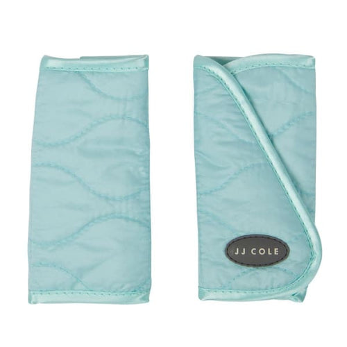 JJ Cole Strap Covers - Urban Wave Embroidery - Aqua - Baby Body Cushion