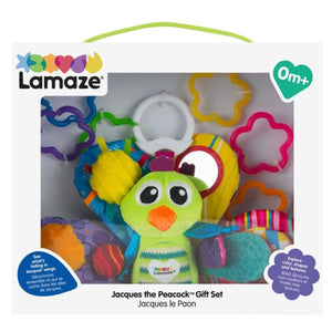Lamaze Jacque The Peacock & On The Go Links In Gift Box - Baby Toys & Activity