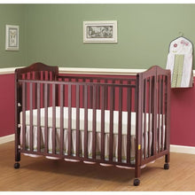Load image into Gallery viewer, Lisa Full Size Folding Crib - Cherry - Portable Folding Crib