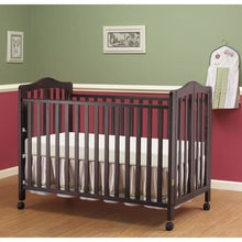 Load image into Gallery viewer, Lisa Full Size Folding Crib - Espresso - Portable Folding Crib
