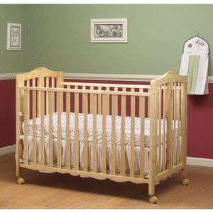Lisa Full Size Folding Crib - Natural - Portable Folding Crib
