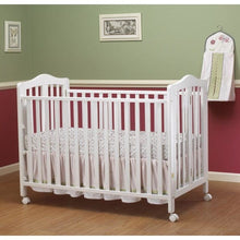 Load image into Gallery viewer, Lisa Full Size Folding Crib - White - Portable Folding Crib