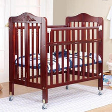 Load image into Gallery viewer, Nathalie Mini Portable Crib - Cherry - Portable Folding Crib
