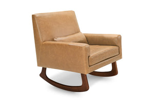 Nursery Works Sleepytime Rocker in Vegan Tan Leather