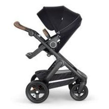 Load image into Gallery viewer, Stokke Trailz Black Chassis With Brown Handle - Black - Convertible Stroller