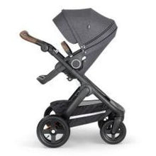 Load image into Gallery viewer, Stokke Trailz Black Chassis With Brown Handle - Black Melange - Convertible Stroller