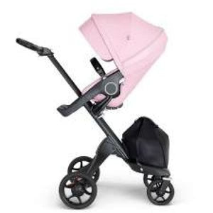 stokke xplory v6 black chassis stroller seat lotus pink and handle convertible full size strollers swaddles