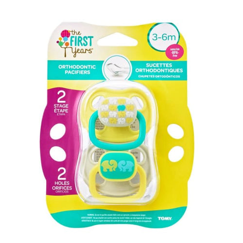 The First Years 2Pk The First Years 3-6 Mo Ortho Pacifier - Neutral Animal Pattern - Pacifiers
