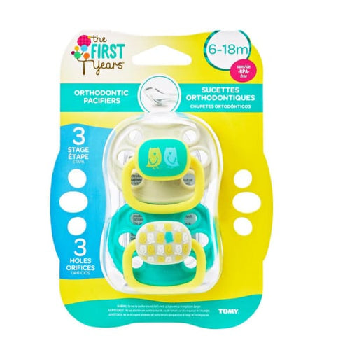 The First Years 2Pk The First Years 6-18 Mo Ortho Pacifier - Animal Pattern Neutral - Pacifiers