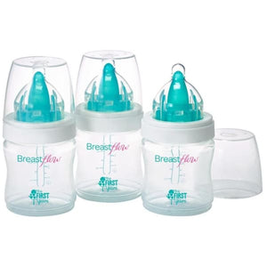 The First Years Breastflow Bisphenol-Free 5Oz. Bottle (3-Pack) - Baby Feeding