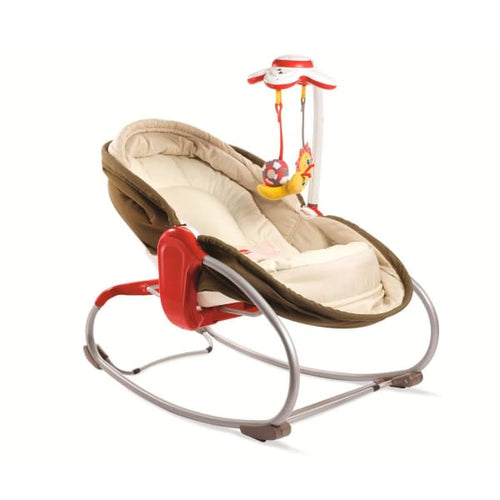 Tiny Love 3-in-1 Rocker-Napper - Brown (2nd Edition) - Baby Swing & Accessories