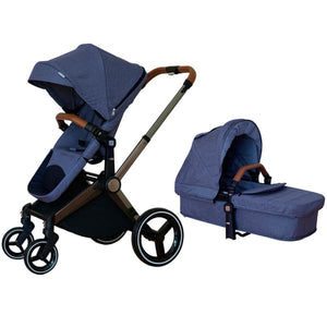Venice Child Kangaroo Stroller - Denim Blue - Convertible Stroller