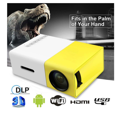 LUMIHD HIGH-RESOLUTION ULTRA-PORTABLE 1080P LED MINI PROJECTOR