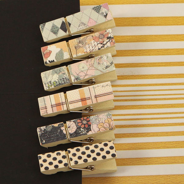 Canvas Wood Clips Rondelle