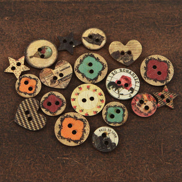 Wood Buttons Romance Novel