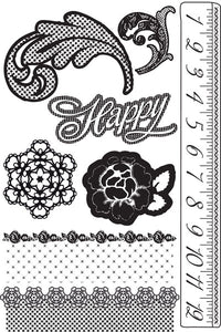 Cling Mount Stamps Rosarian
