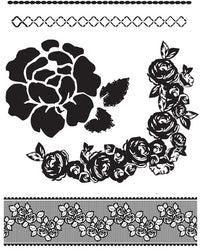 Clear Acrylic Stamps Rosarian #1