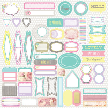 12x12 Journaling Spot Stickers - Hello Pastel