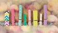 Wood Clip Embellishments - Hello Pastel