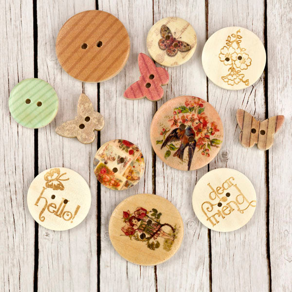 Wood Buttons - Fairy Rhymes 655350565015