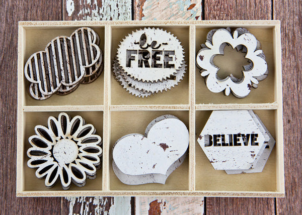 Free Spirit- Wood Embellishment