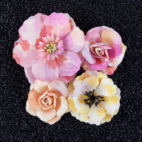 Prima Marketing Watercolor Mulberry Paper Flowers - Rose Quartz
