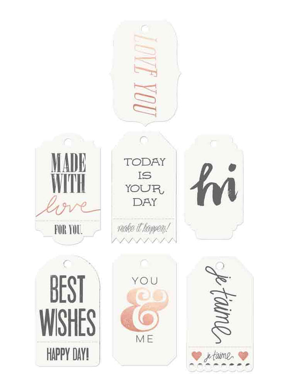 Watercolor resist tags-words