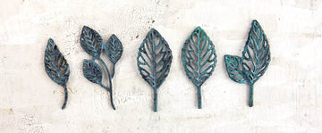 Metal Patina Trinkets - Stroked Leaves
