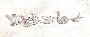 Metal Patina Trinkets - Birds