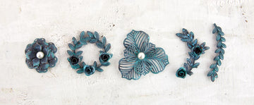 Metal Patina Trinkets - Flowers & Vines