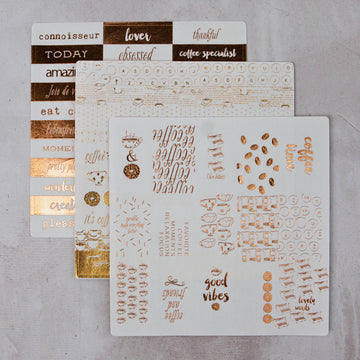 Foil Washi Sticker Sheets
