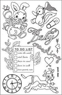 4x6 Cling Stamps - Heaven Sent 655350587529