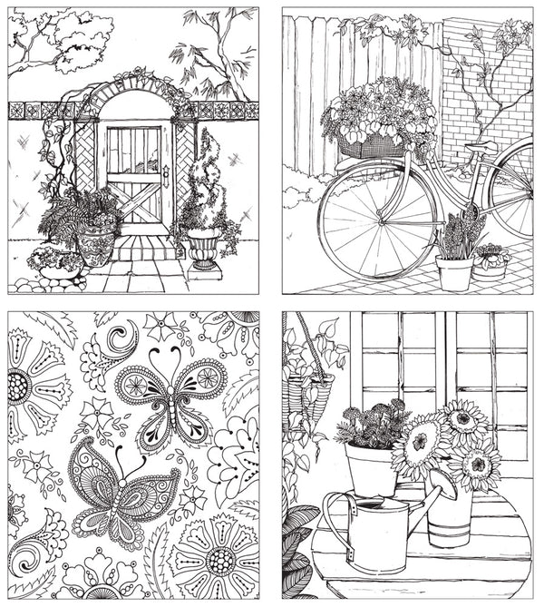 Behind the Garden Gate multimedia coloring book 655350588328