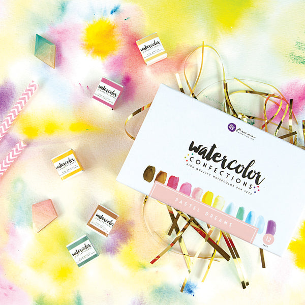Watercolor Confections - Pastel Dreams 655350590253