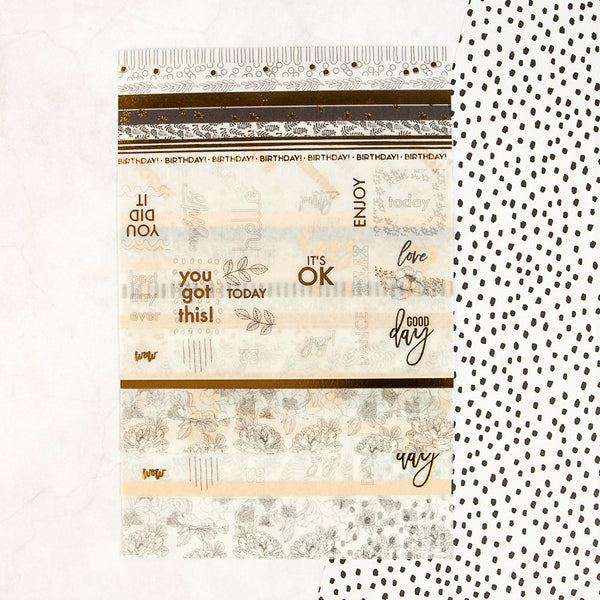My Prima Planner Embellishments - Washi Sheets