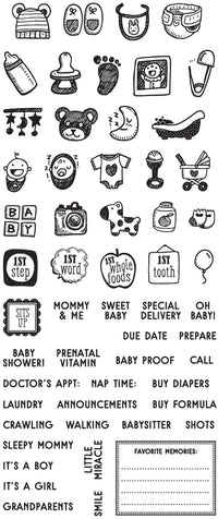 "My Prima Planner Clear Stamps - ""Baby"""