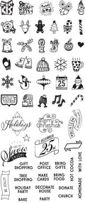 "My Prima Planner Clear Stamps - ""Christmas"""
