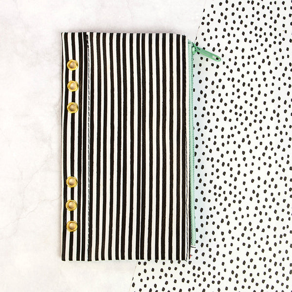 "My Prima Planner Embellishments - Pencil Bag - ""Cute Stripes"""