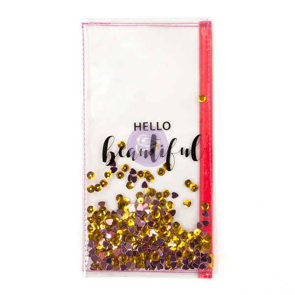 PTJ Clear Shaker Pouch - Hello Beautiful 655350592943