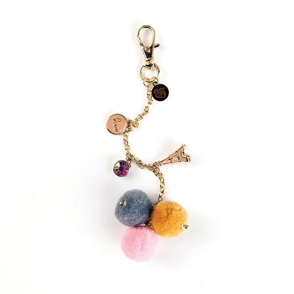 My Prima Planner Embellishments - Paris Love Pom Pom Key Chain 655350593315