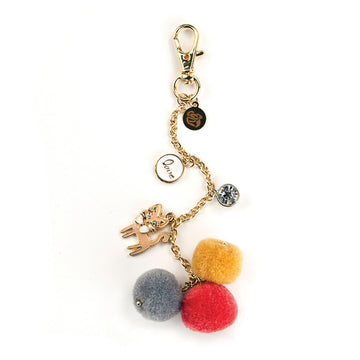 My Prima Planner Embellishments - Kitty Cat Love Pom Pom Key Chain 655350593322