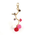 My Prima Planner Embellishments - Raspberry Kisses Pom Pom Key Chain 655350593377