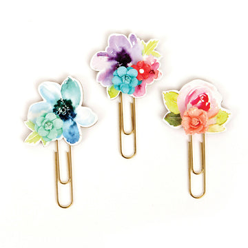 My Prima Planner Clips - Watercolor Florals 655350593650