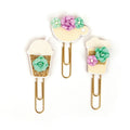 My Prima Planner Clips - Coffee & Tea Lover 655350593667