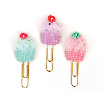 My Prima Planner Clips - Cupcakes 655350593681