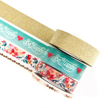 MPP Embellishments - Be Happy- Decorative Tape