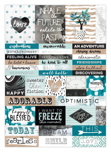 Zella Teal- Word Sticker 655350595586