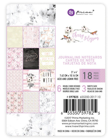 Cherry Blossom - 3x4 Journaling Cards 655350597825